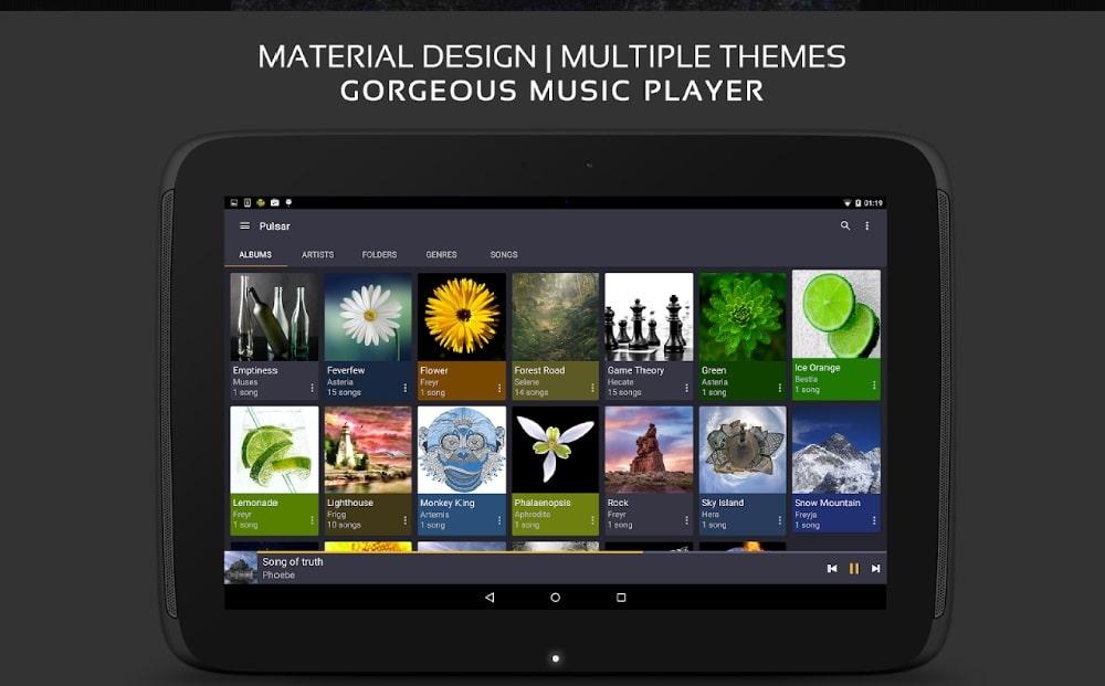 Aplikasi pemutar musik pulsar