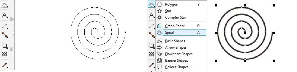 toolbox coreldraw spiral
