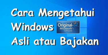 Cara Cek Windows Original atau Bajakan dengan CMD