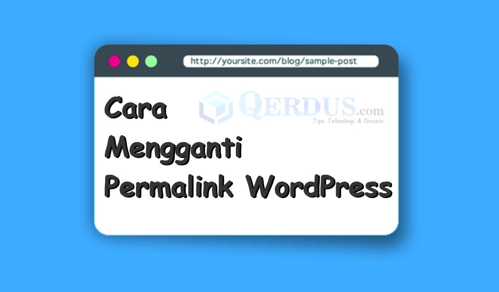 cara mengganti permalink WordPress