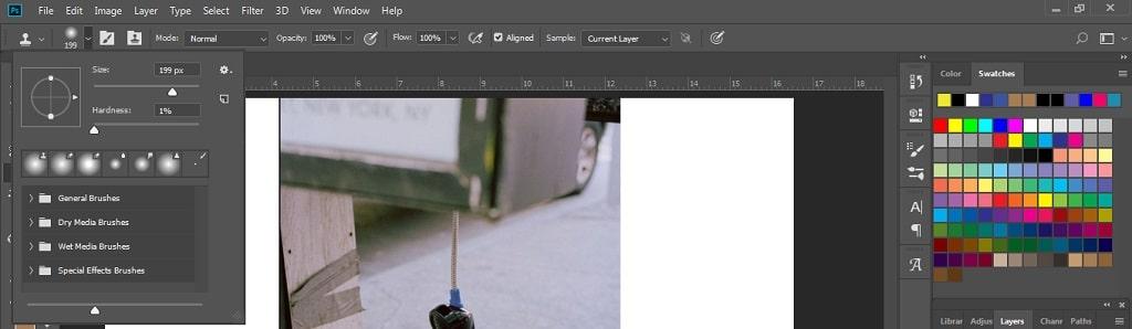 pengaturan clone stamp tool