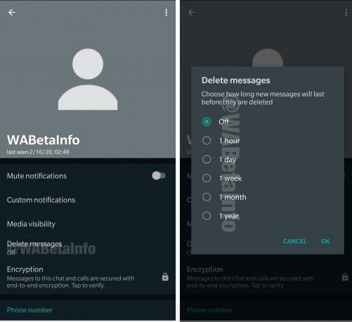 whatsapp dark mode hapus pesan
