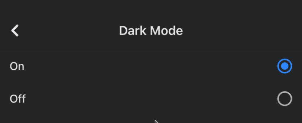 screenshots facebook dark mode on iOS