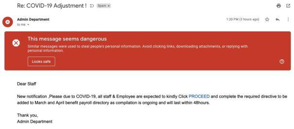 spam coronavirus