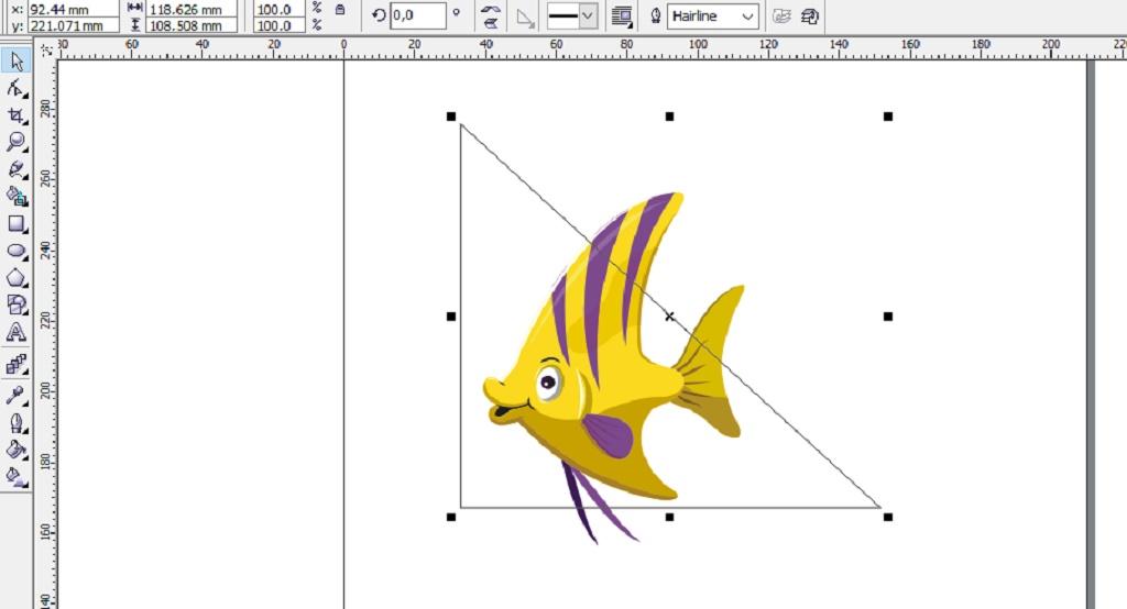 menambahkan objek untuk desain background logo
