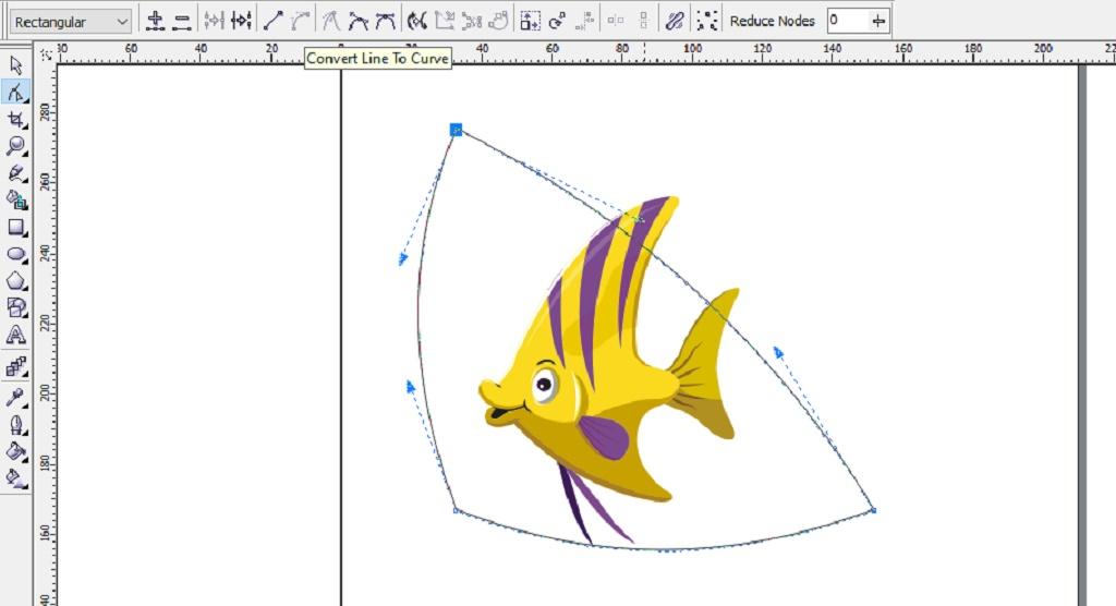 edit background logo dengan coreldraw