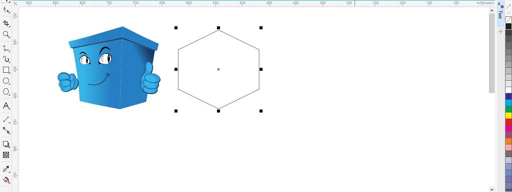contoh persiapan objek yang akan dicopykan gradasi warnanya