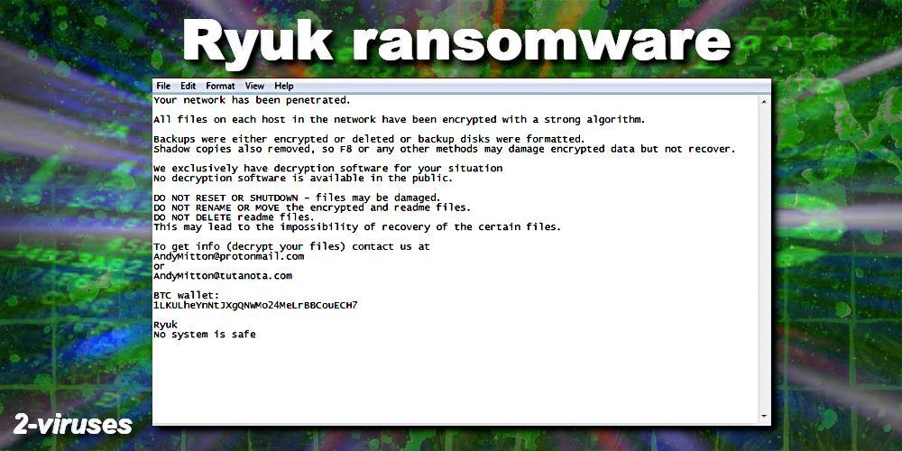 ryuk ransomeware