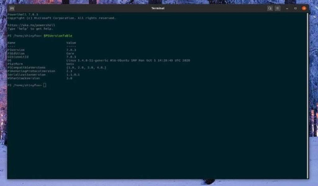 Mengatur Microsoft PowerShell sebagai shell terminal default