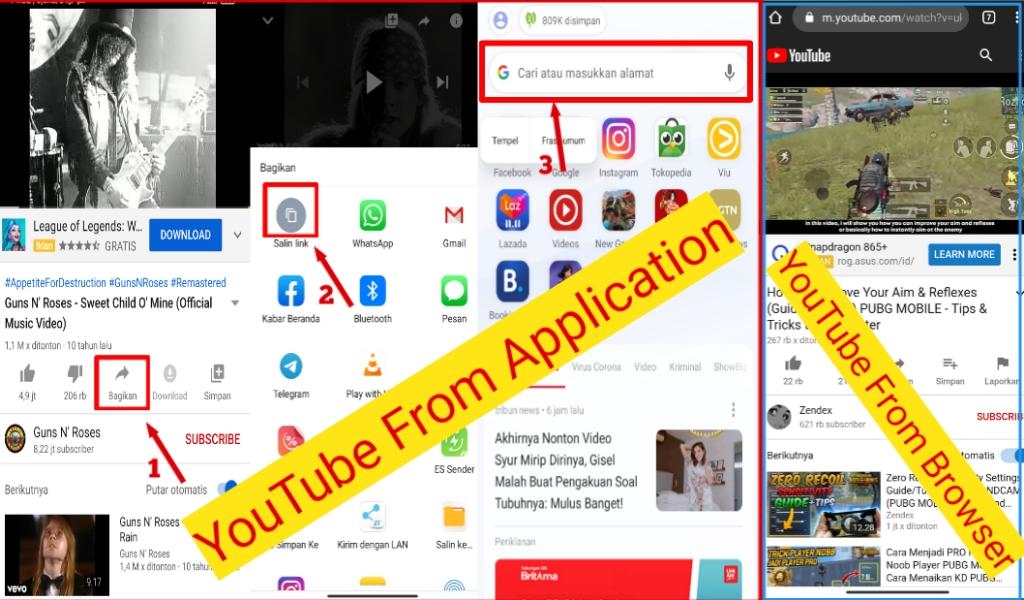 Buka Video YouTube di Browser