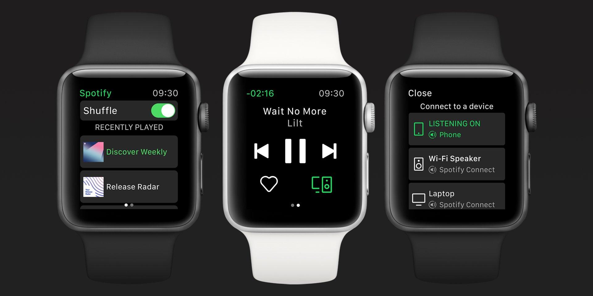 Spotify memberikan dukungan streaming ke aplikasi Apple Watch