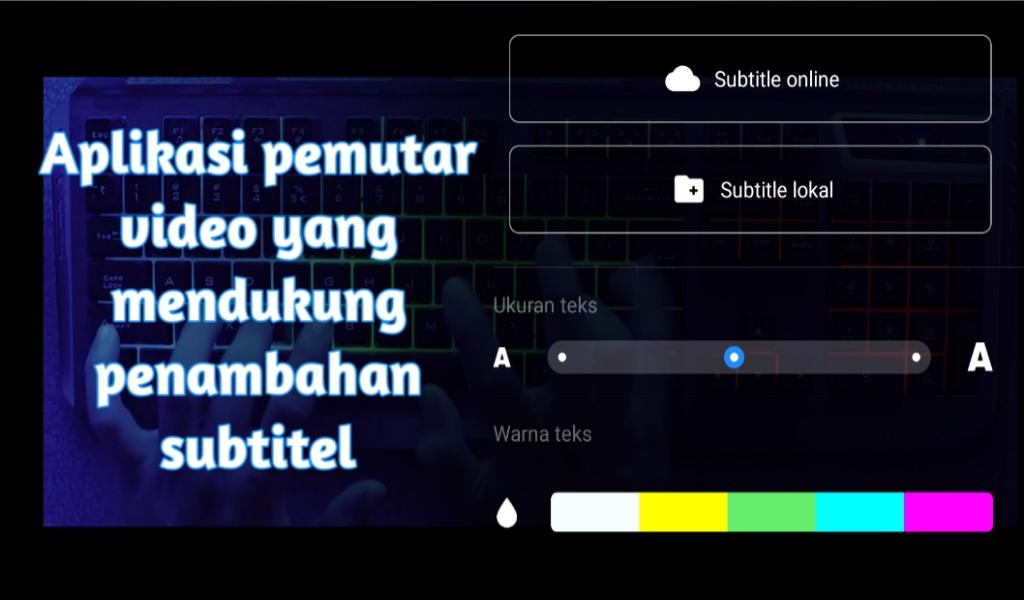 Aplikasi pemutar video yang mendukung subtitel