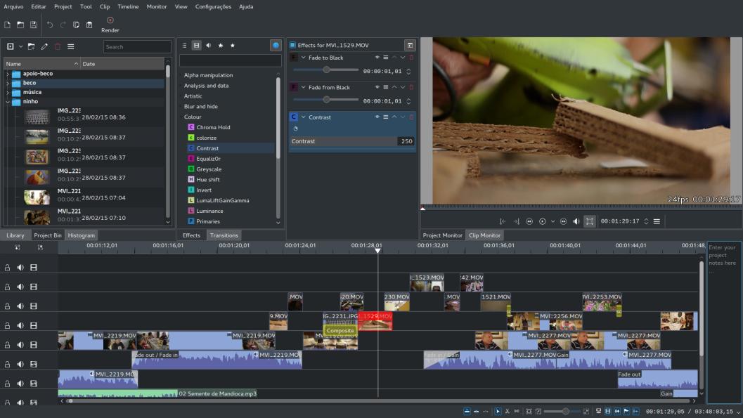 Kdenlive 2012 rilis dengan tambahan fitur dan efek video baru