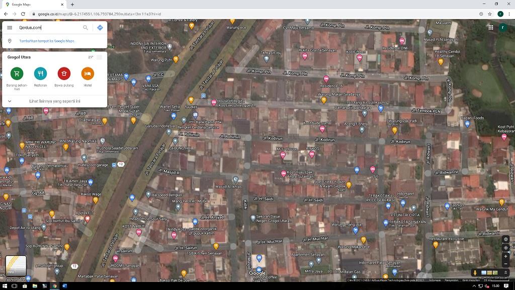 Google Maps melalui Situs Web