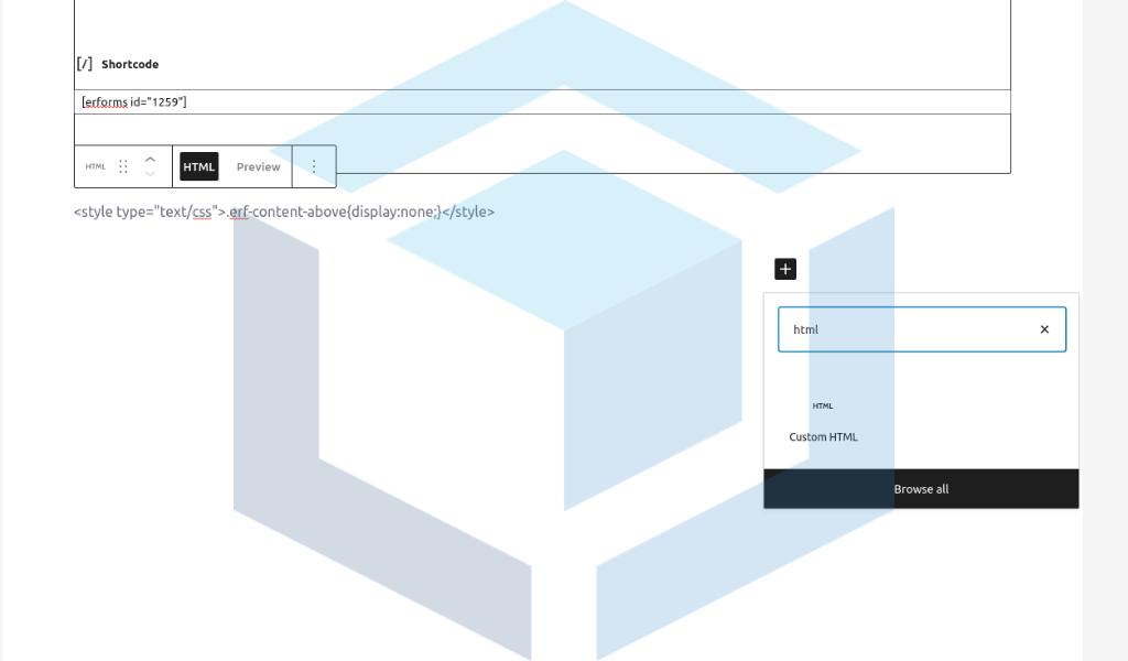custom html erforms