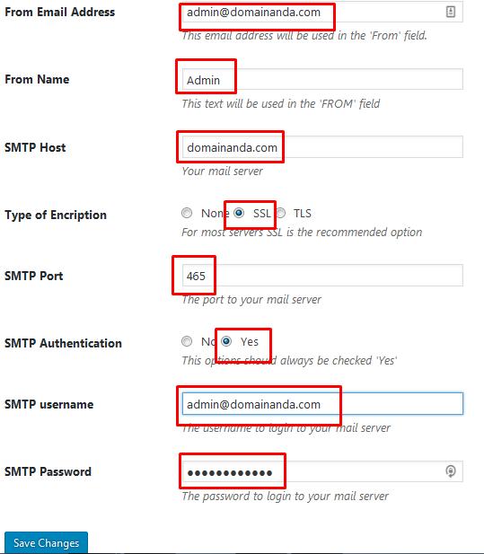 konfigurasi plugin easy wp smtp wordpress