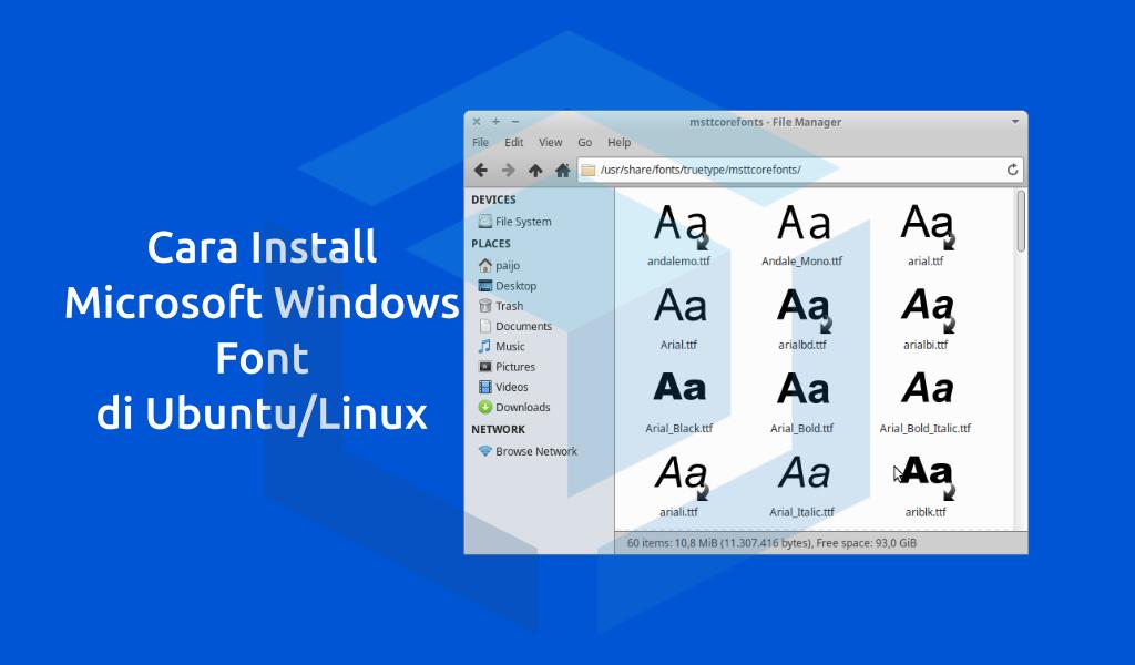 Cara install Microsoft TrueType Fonts pada distribusi Ubuntu