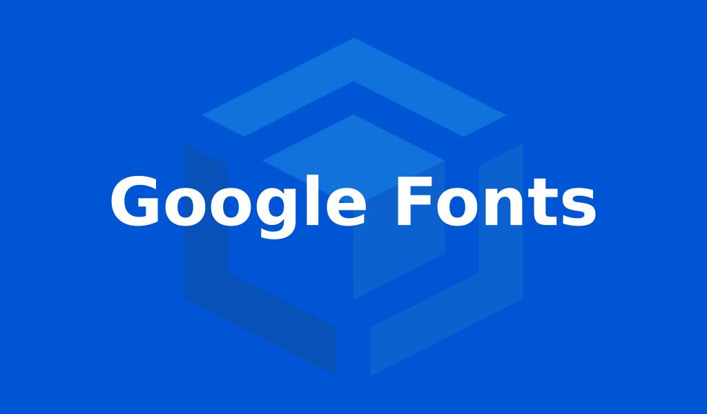 cara install google fonts
