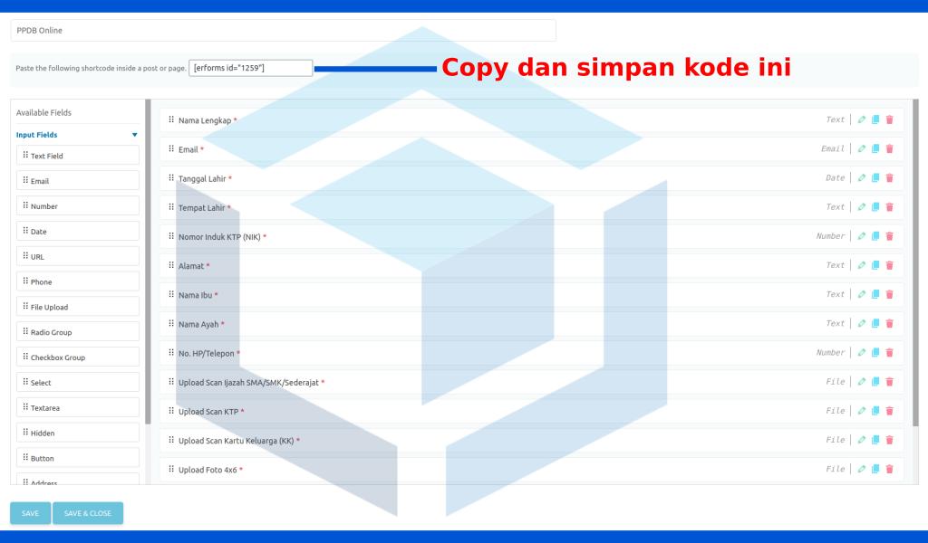 membuat form sistem ppdb online