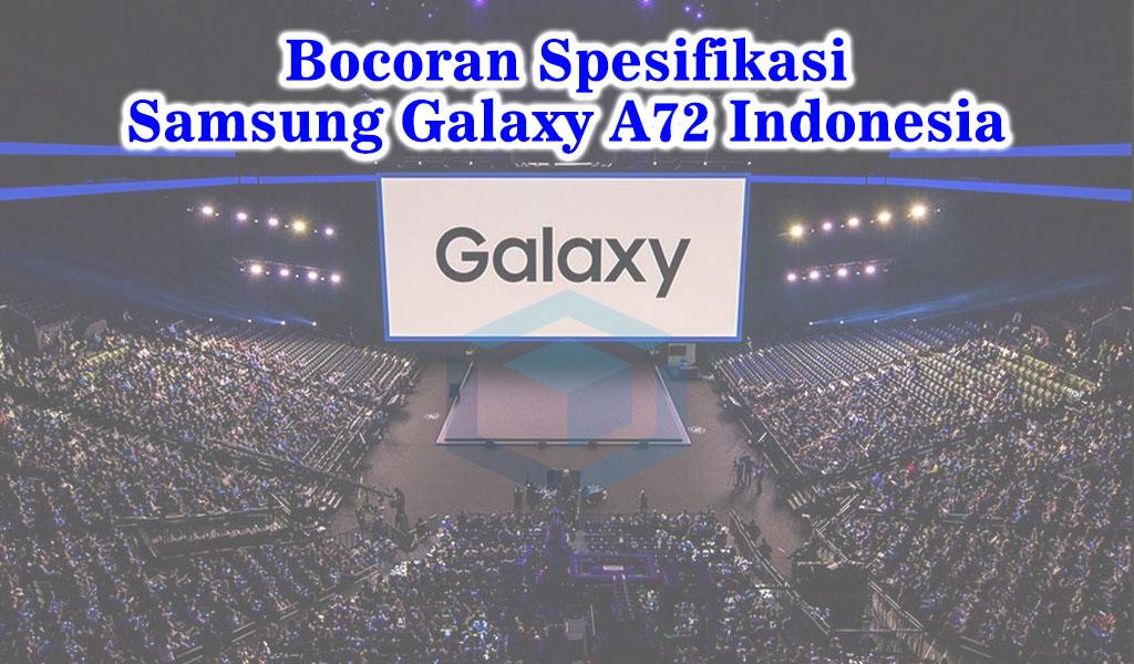Bocoran spesifikasi Samsung Galaxy A72 resmi