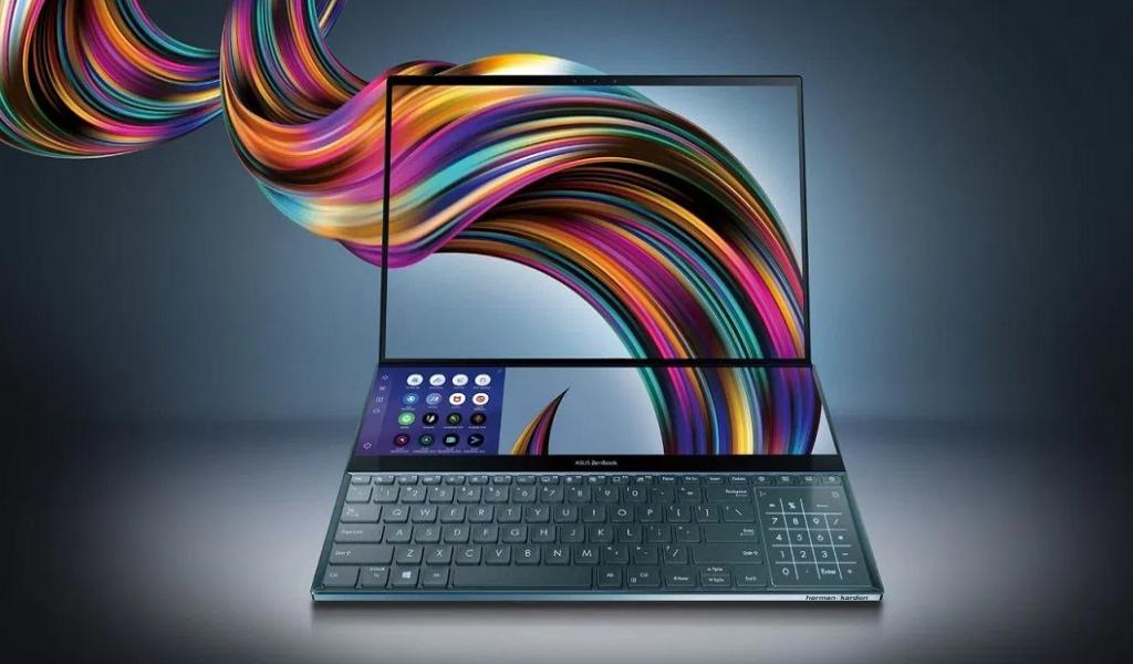 ASUS Laptop layar ganda