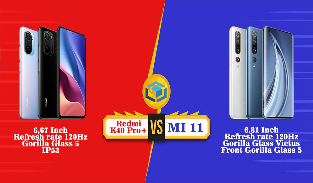 Perbandingan desain Redmi K40 Pro+ vs MI 11