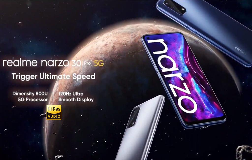 Spesifikasi Realme Narzo 30 Pro tawarkan layar 120Hz dan sertifikasi Hi-Res audio