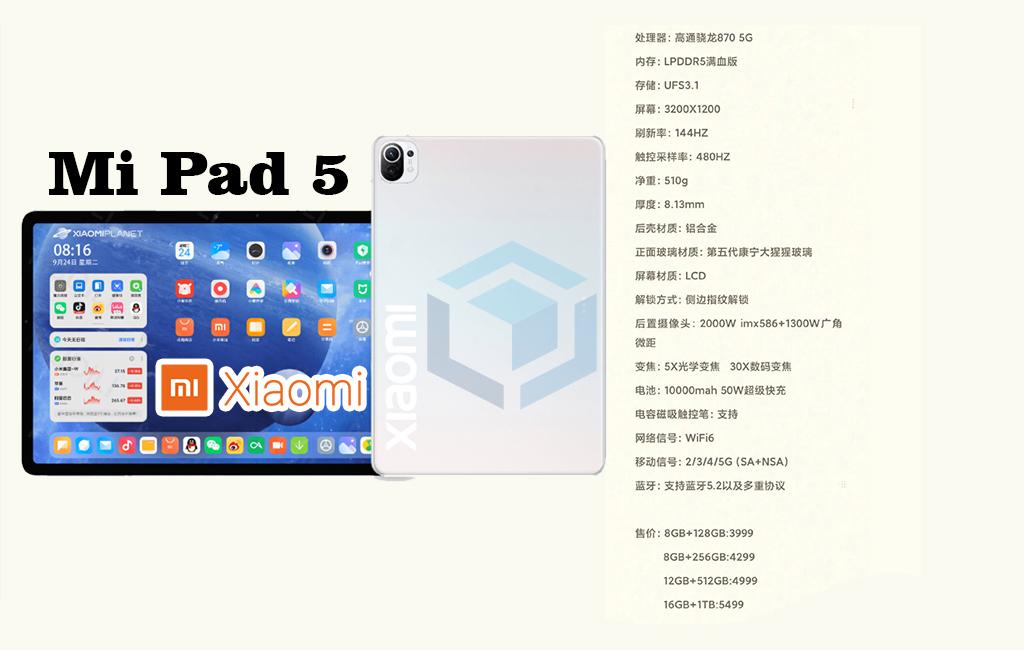 Rumor spesifikasi Xiaomi Mi Pad 5 datang dengan layar 120Hz dan Snapdragon 870