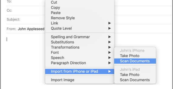 Document Scanner iPhone dapat dikontrol dengan baik dari Mac