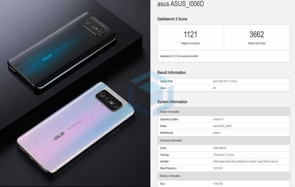 Detail spesifikasi Zenfone 8 Mini muncul pada daftar Geekbench