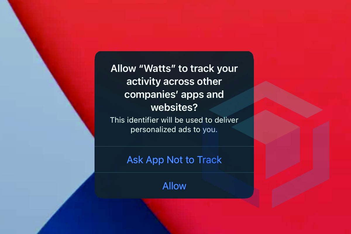 notifikasi saat anda diminta untuk mengizinkan atau memblokir pelacakan aplikasi