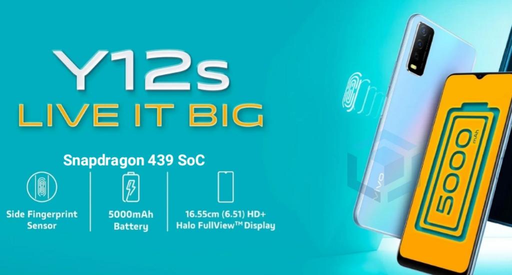 Vivo Y12S 2021 resmi rilis dengan chipset Snapdragon 439