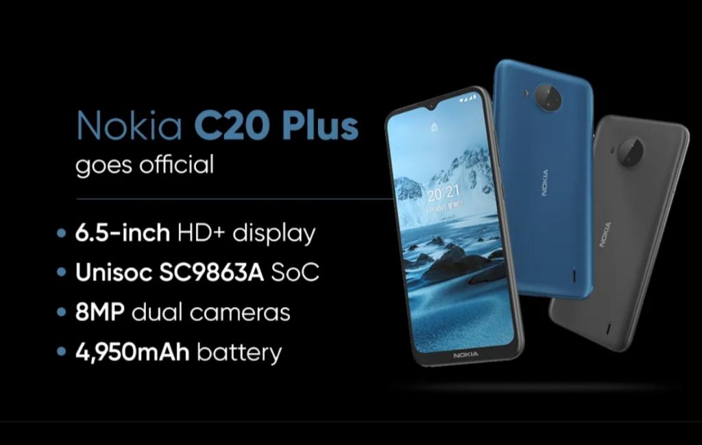 Spesifikasi Nokia C20 Plus yang resmi rilis seharga 1 jutaan